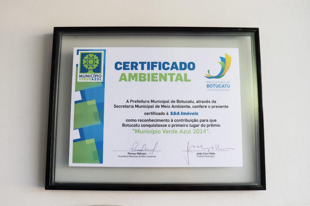 S.A Imóveis - Certificado Ambiental