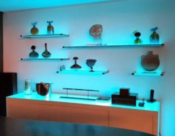 Prateleira de Vidro: organização e decoração