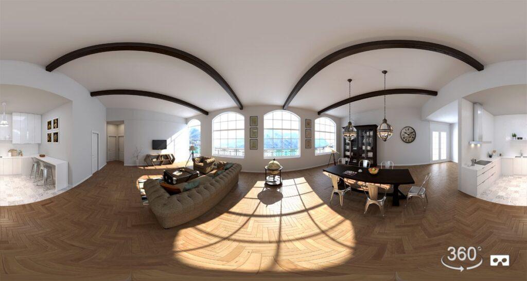 3d interior 360 virtual reality